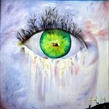 Eye See You All Day by Aziz Anzabi, Painting, Oil on canvas